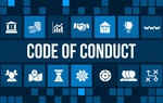 Code of conduct concept image with business icons