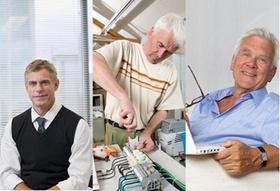 Collage Techniker Kaufmann normaler Mensch