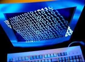 Computer mit Zahlencode