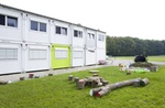 Containerflüchtlingsunterkunft in Edling im Landkreis Wasserburg.