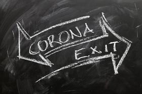 Corona Exit Kreide Tafel