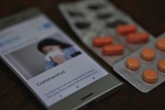 Coronavirus Smartphone Pillen