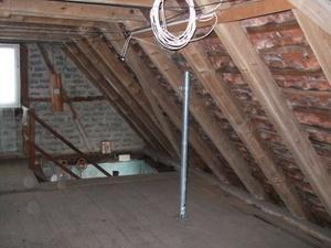 Ersatz von Flachdach durch Satteldach nachträgliche Herstellung