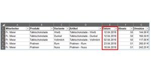Beträge nach Datum summieren mit Hilfe einer Excel-Formel