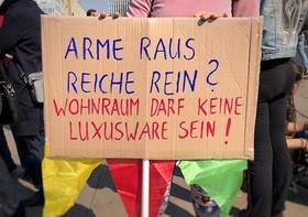 Demo gegen hohe Mieten in Berlin
