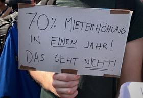 Demo gegen Mieterhöhungen in Berlin
