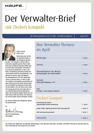 Der Verwalter-Brief Ausgabe 04/2014   Verwalter-Brief