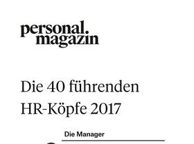Die 40 führenden HR-Köpfe 2017