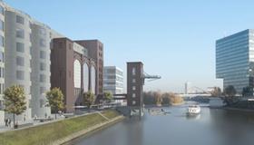 Die Silos im Medienhafen Düsseldorf
