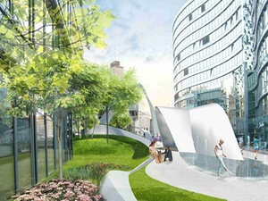 """Axa Real Estate baut """"Die Welle"""" in Frankfurt um"""