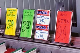 Diverse Preisschilder