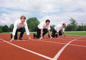 Drei Manager am Start zum Wettlauf