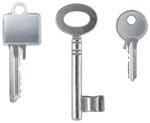 Drei verschiedene Schlüssel