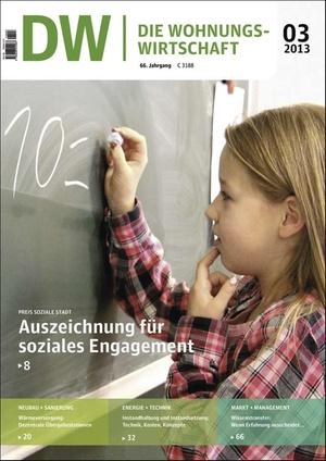 Die Wohnungswirtschaft Ausgabe 3/2013 | Wohnungswirtschaft