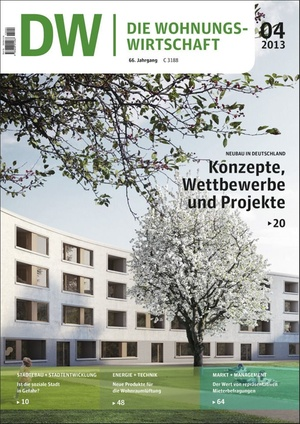 Die Wohnungswirtschaft Ausgabe 4/2013 | Wohnungswirtschaft
