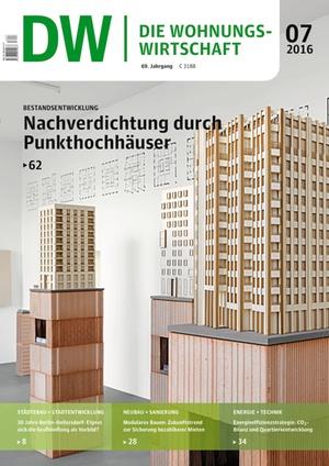 Die Wohnungswirtschaft Ausgabe 7/2016 | Wohnungswirtschaft