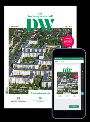 Die Wohnungswirtschaft Ausgabe 9/2020   Wohnungswirtschaft