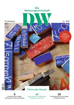 Die Wohnungswirtschaft Ausgabe 12/2019 | Wohnungswirtschaft
