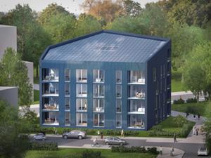 Neubau in Frankfurt: Richtfest für Effizienzhaus-Plus-Gebäude