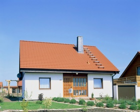 Detached house within a settlement