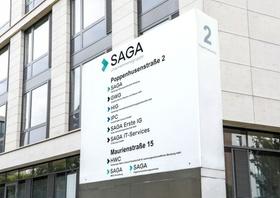 Eingang Saga-Zentrale Hamburg