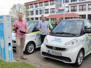 Wohnungswirtschaft: Elektro-Tanksäule bei der Lipsia
