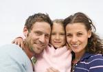 Eltern mit kleiner Tochter, Porträt