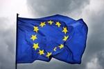 EU-Flagge Gewitter