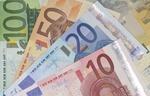Euro Geldscheine aufgefächert Nahaufnahme