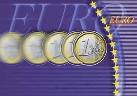 Euro-Muenze, Schriftzug, Sterne, Grafik