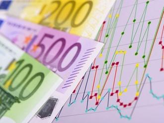 Aktienkurs an der Börse mit Chart und Euro