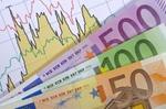 Euro Banknoten, Diagramm, Aktienkurse, Wertentwicklung,
