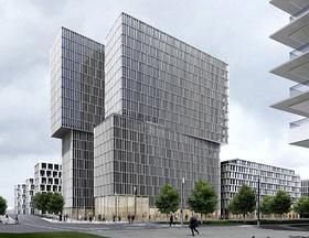 Europaviertel Büroturm Eicke Becker