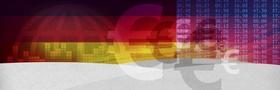 Euro Eurozeichen Steuerfahnder Deutschlandfarben
