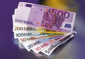 Euroscheine, Fächer aller Werte