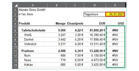 Excel: Formel #NV