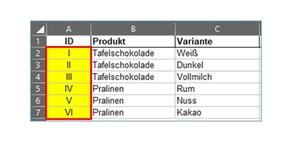 Excel: Werte umwandeln mit den Formeln ARABISCH und RÖMISCH