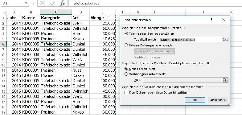 Excel-Tipp: Wie und warum man eine Pivot-Tabelle einfügt ...