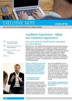 Executive Note-Candidate Experience