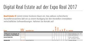 Expo Real 2017: Digital Real Estate Ausstellerverzeichnis