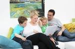 Familie am Laptop