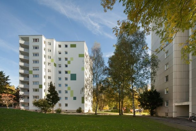 nachhaltige fassadensanierung wohnhochhaus w rmeschutz immobilien haufe. Black Bedroom Furniture Sets. Home Design Ideas