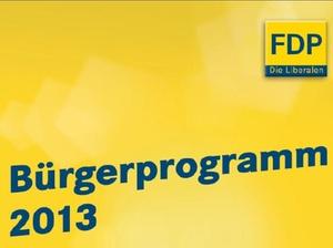 Bundestagswahl 2013: Wahlprogramm FDP