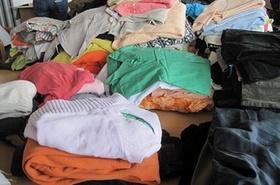 Flüchtlinge Kleiderspende