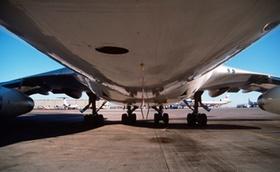 Flugzeug Großaufnahme Airport