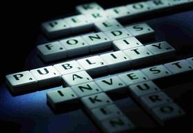 Fonds Publity Scrabble Buchstaben