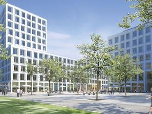 """Hochtief legt Grundstein für """"Forum am Hirschgarten"""" in München"""