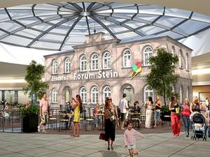 """Baustart für Einkaufszentrum """"Forum Stein"""" bei Nürnberg"""