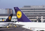 Frankfurter Flughafen, Passagierflugzeuge, Detail