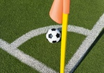 Fußball Rasen mit Eckfahne